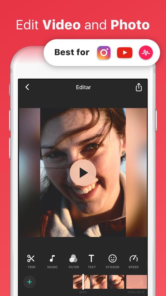 InShot Video Editor Music, Cut Screenshot