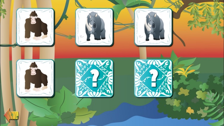 Animal Pairs Game: The Jungle