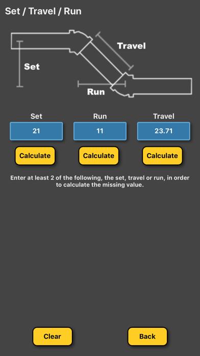 Pipe Offset Calculator review screenshots