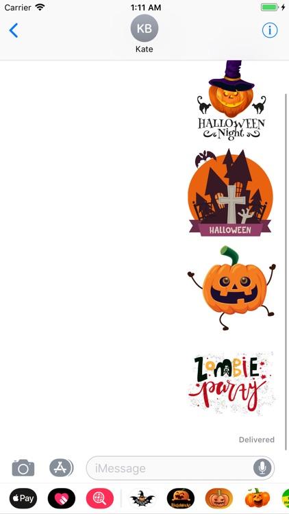 Happy Halloween Boo Sticker IM screenshot-3