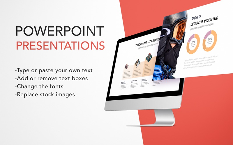 Templates for MS PowerPoint Screenshot