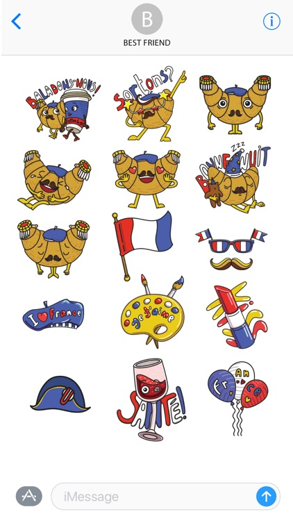 National French Stickers screenshot-4