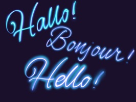 Say hello to your friends and wish them good luck in different languages with Hi