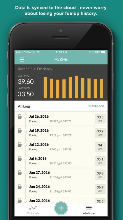 Fuelly - MPG, Mileage, Service screenshot-3