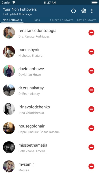 Unfollowers For Instagram On