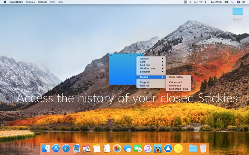 how to close stickies on mac