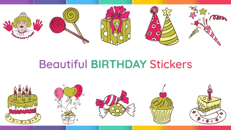 Birthday Wishes Party Stickers