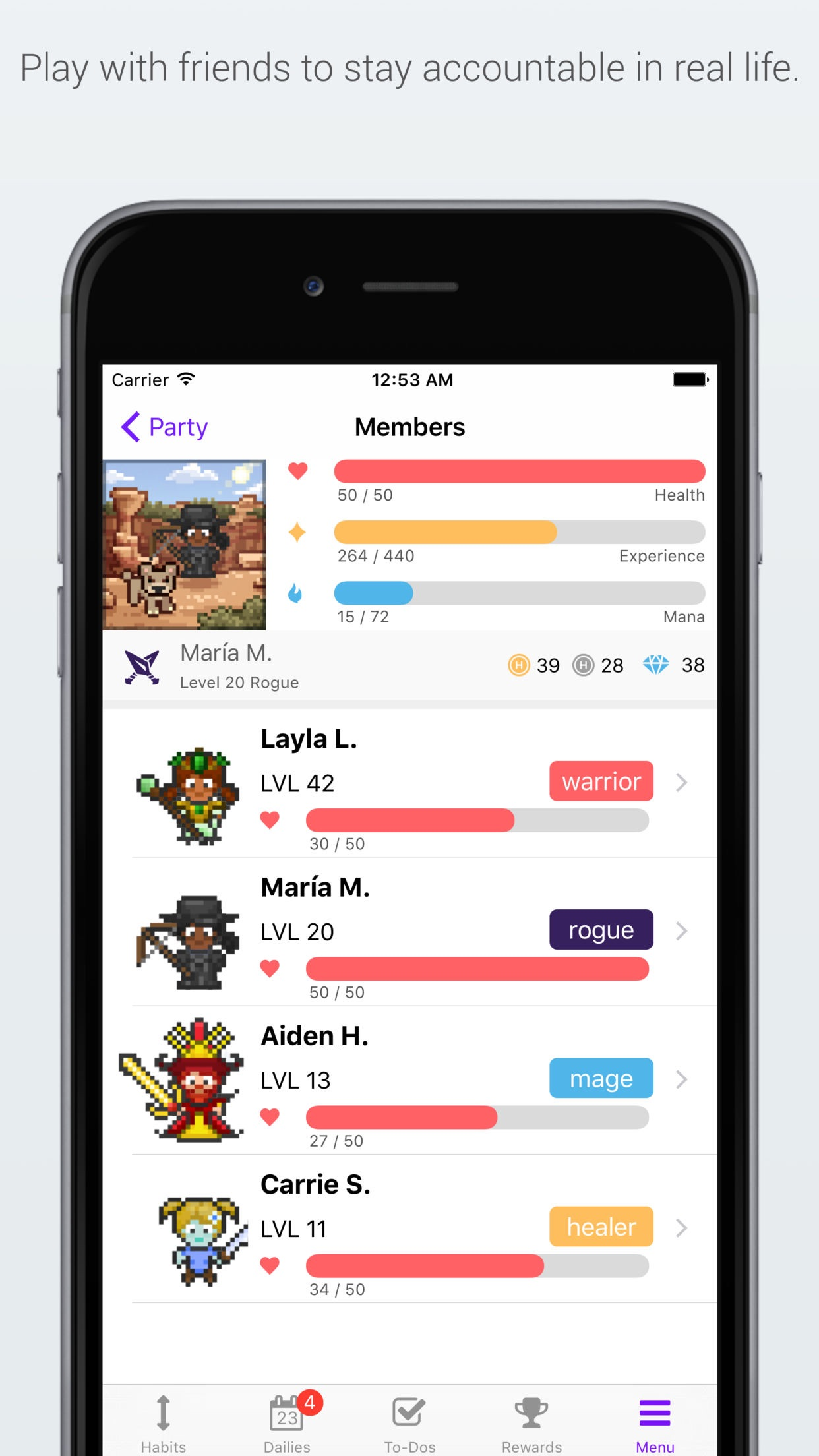 Habitica: Gamified Taskmanager Screenshot