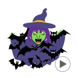 Mrs.Clumsy - Animated Witch Emoji GIF