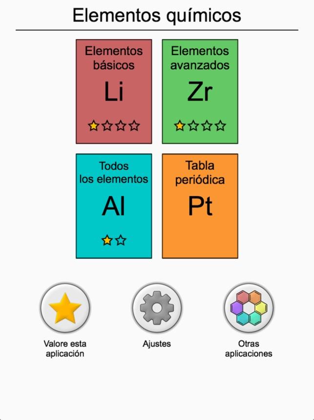 los elementos qumicos prueba en app store - Tabla Periodica De Los Elementos Basicos