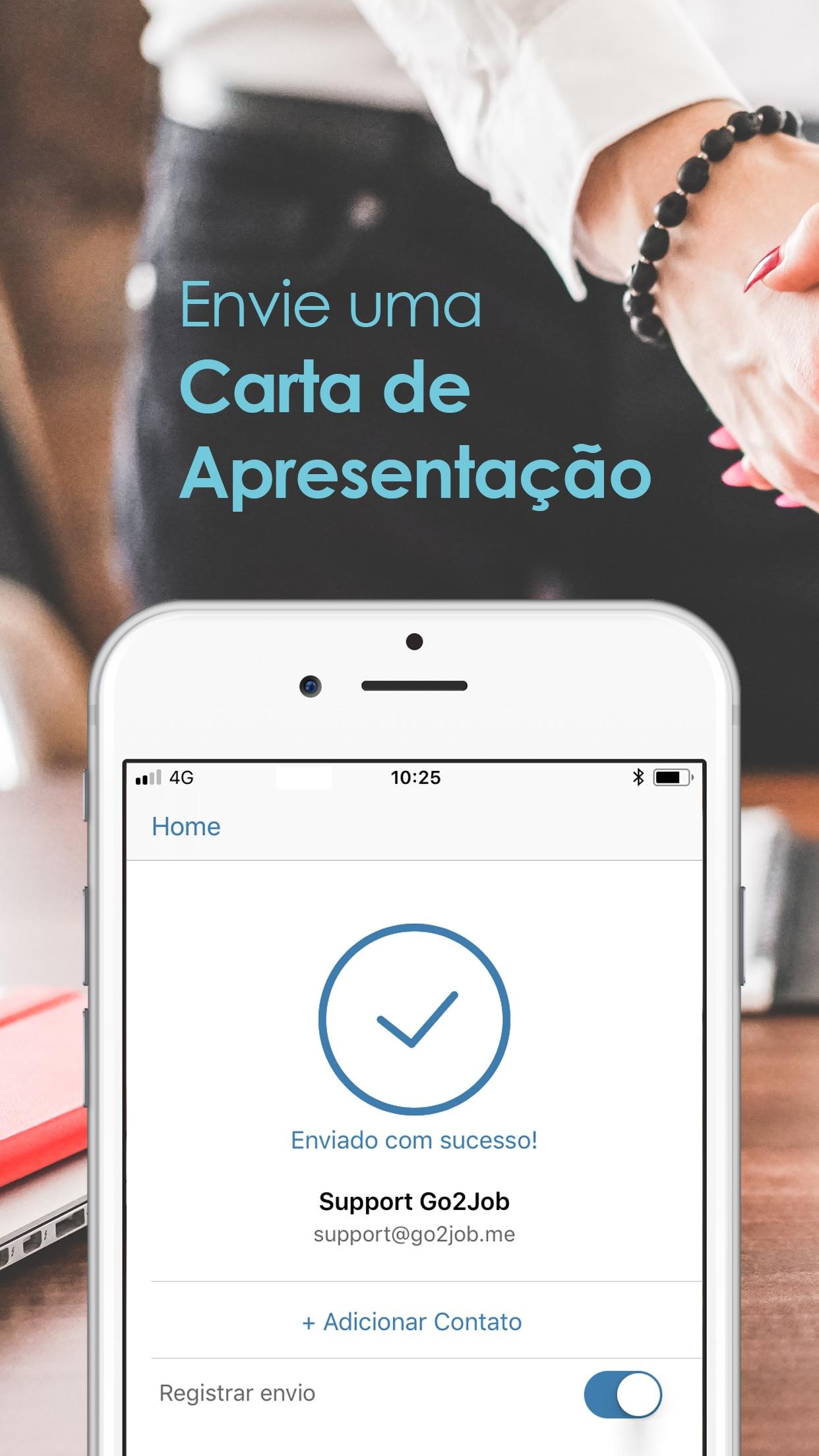 Screenshot do app Go2Job - Currículo e Empregos