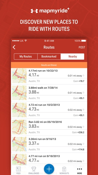 Map My Ride+ by Under Armour Screenshot