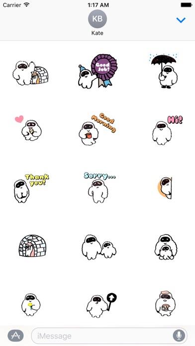 Yetimoji - Yeti Emoji Sticker screenshot 1