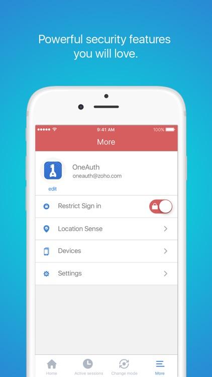 Zoho OneAuth screenshot-3