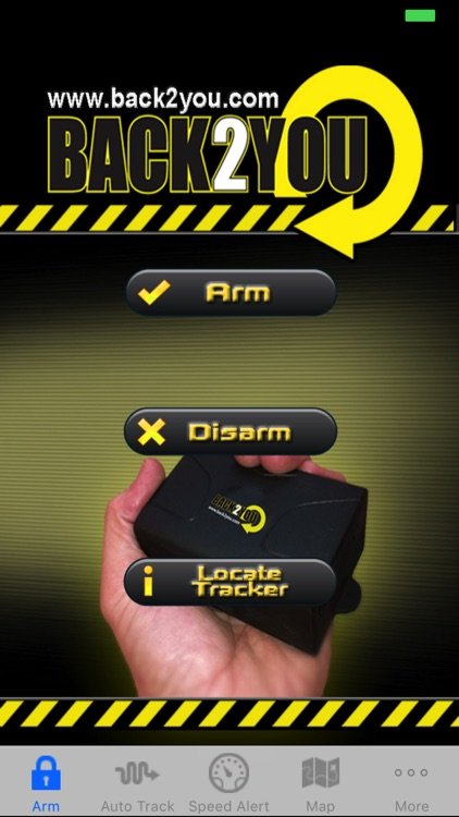 Back2you.com GPS tracker app