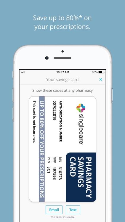 singlecare screenshot 0 - Singlecare Prescription Card