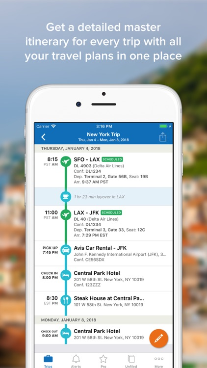 TripIt: Travel Organizer screenshot-1