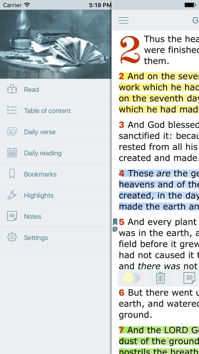 KJV Bible with Apocrypha. KJVA Screenshot