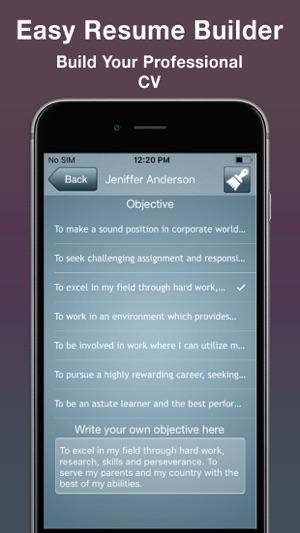 Easy Resume Builder : CV Maker on the App Store