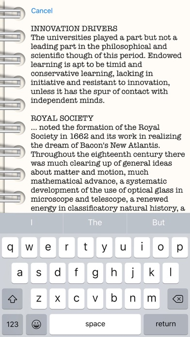 Screenshot of HurleyWrite App