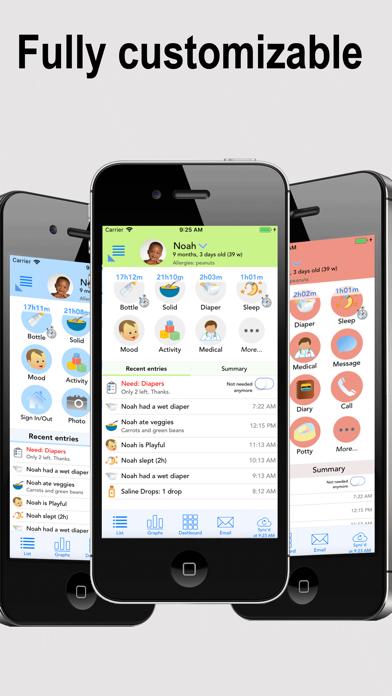 Screenshot for Bébé Connect (cahier de vie) in Lebanon App Store