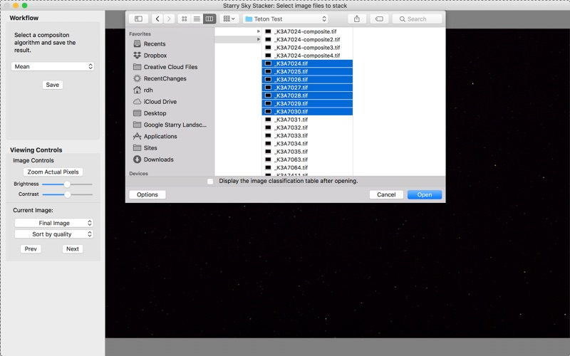Starry Sky Stacker for Mac