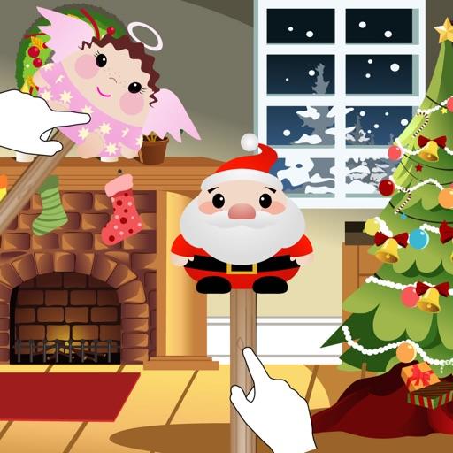 子供のためのクリスマスのパントマイム人形劇場