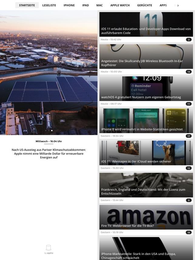 Apfelpage Screenshot
