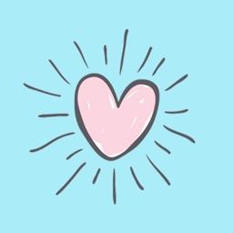 Hand drawn valentine hearts