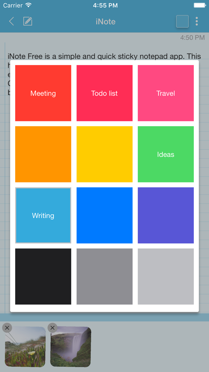 iNote - Sticky Note by Color Screenshot