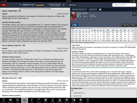 Fantasy Baseball Draft Kit '18 screenshot 10