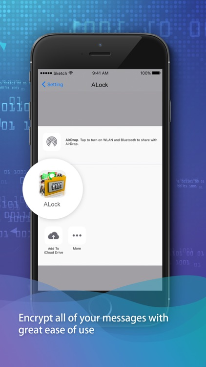 ALock: Secure clouding message screenshot-3