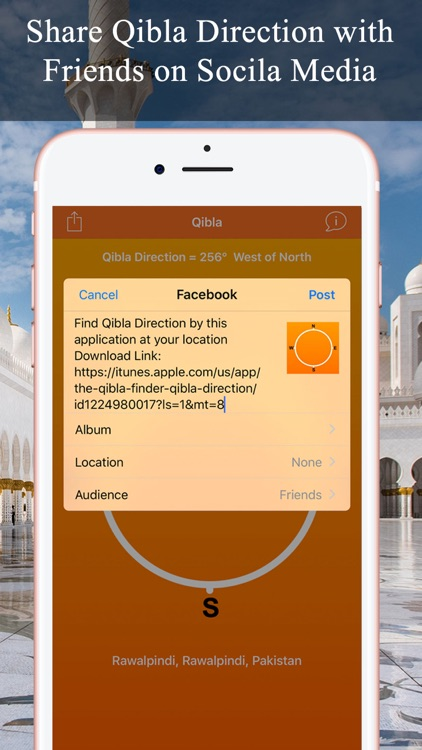 Qibla Compass & Locator Pro screenshot-3