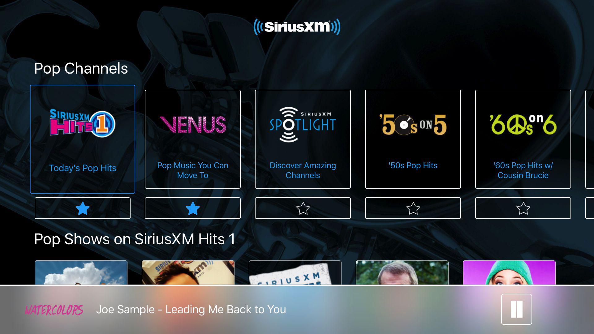 SiriusXM: Music, Radio & Video screenshot 2