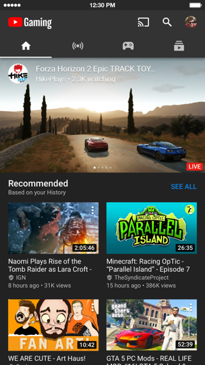 Youtube Gaming On The App Store