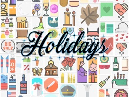 Bring your messages to life and access an amazing collection of Holiday stickers with a single touch