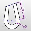 ドローまで - 拘束と寸法の2D CAD図面を作成します