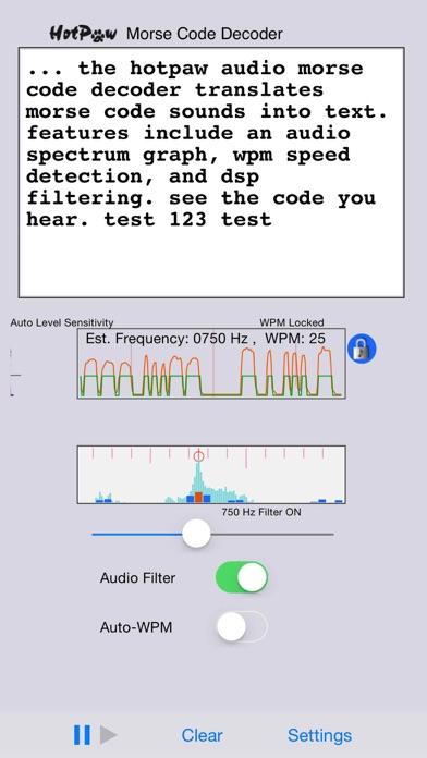 Morsedecoder review screenshots