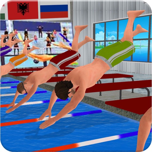 Real Water Swimming Pool Race