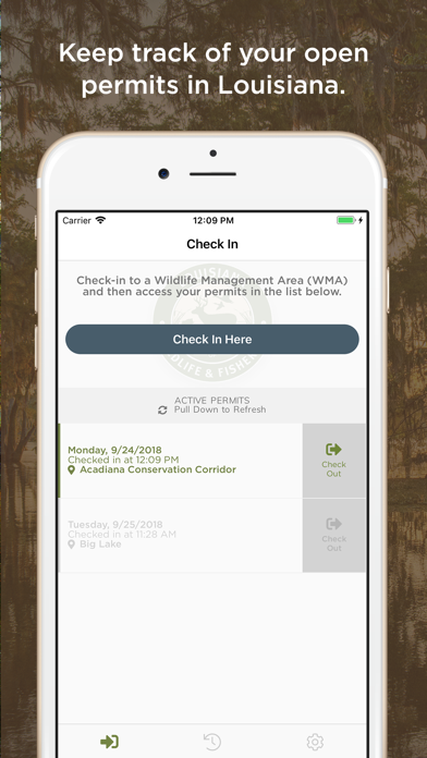 WMA Check In/Check Out screenshot two