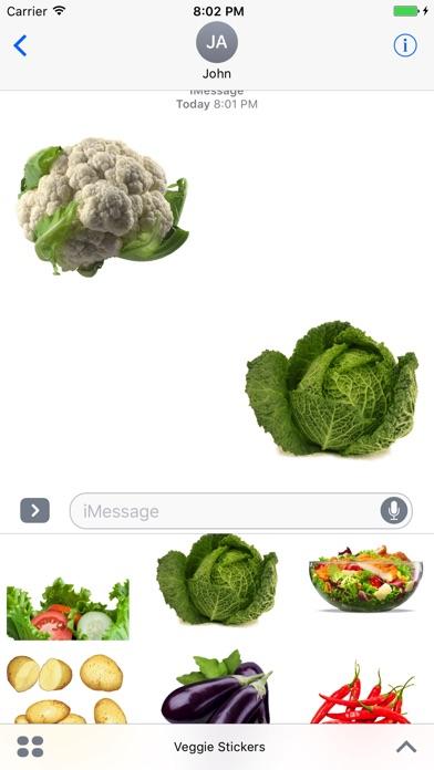Veggie Stickers for iMessage screenshot 1