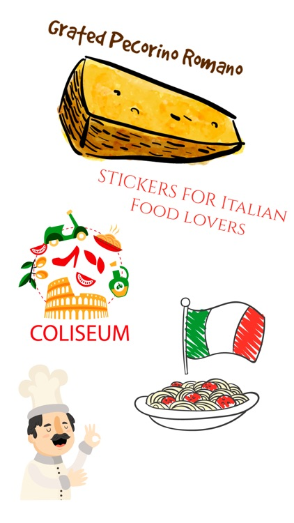 Italian Food Sticker I Love Italy