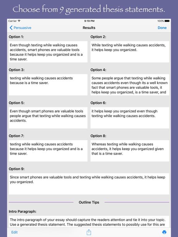 Essay generator