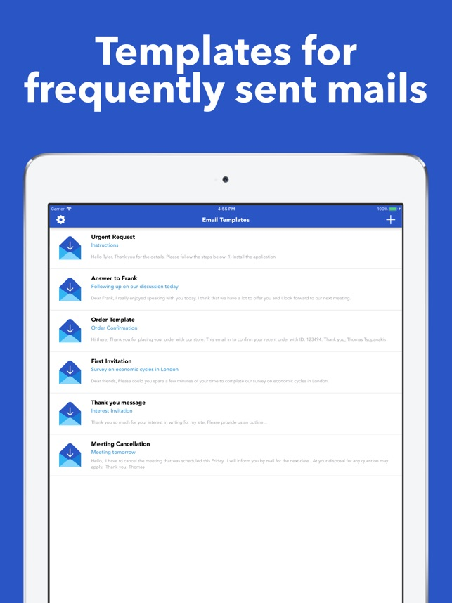 Email Templates On The App Store