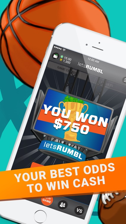 letsRUMBL: Daily Fantasy Sports for Cash screenshot-0