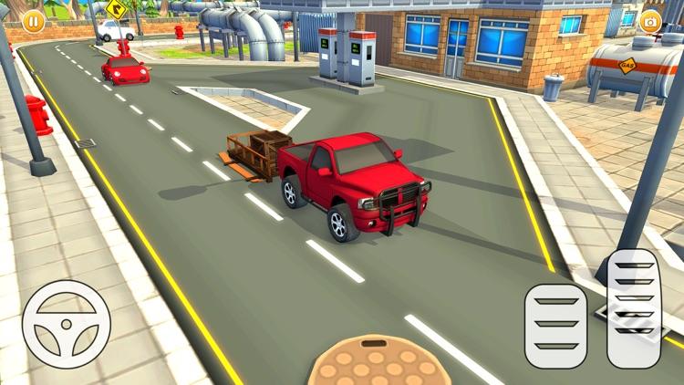 Mini City Pizza Delivery Car