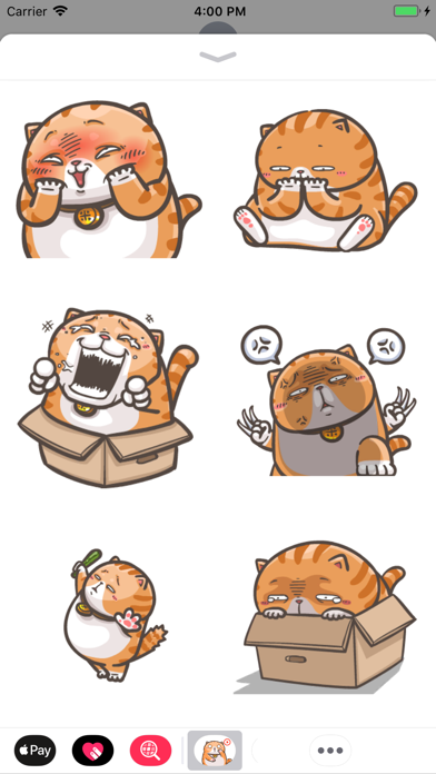 Chubby Cat Stickers Animated screenshot two