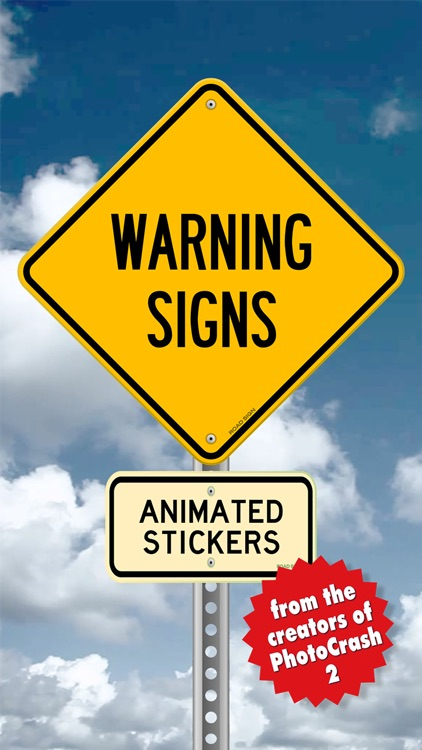 Warning Sign Animated Stickers screenshot-0