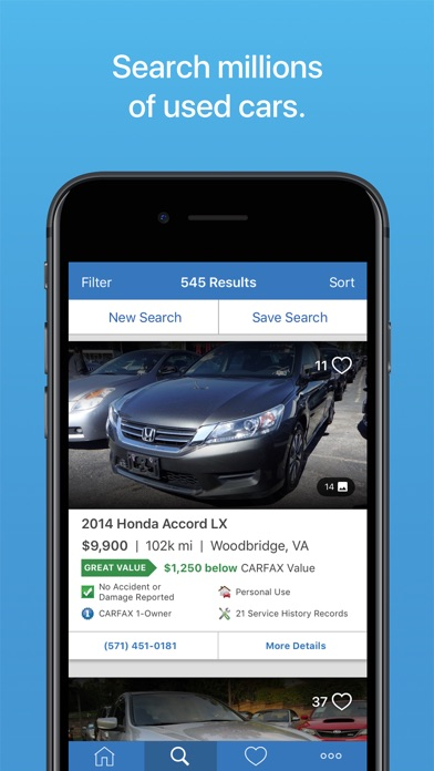 Carfax Find Used Cars For Sale App Reviews - User Reviews of Carfax