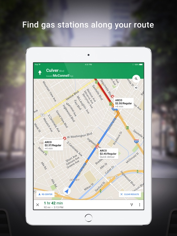 Image of Google Maps - Transit & Food for iPad